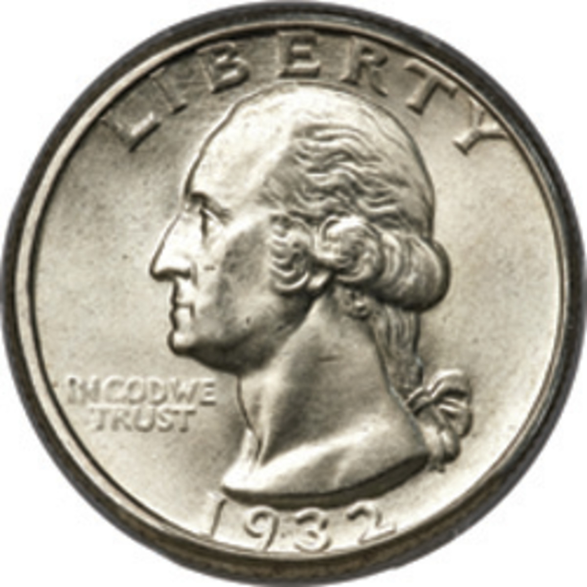 The bicentennial of George Washington's birth prompted his likeness on the quarter in 1932.