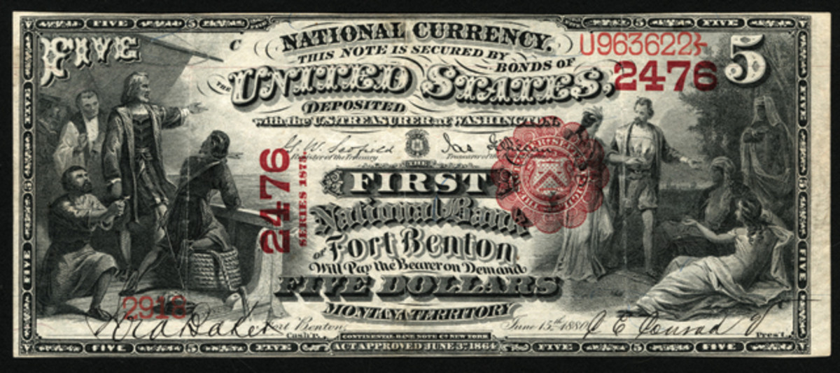 Territorials are graced by this piece from Fort Benton, Montana Territory.