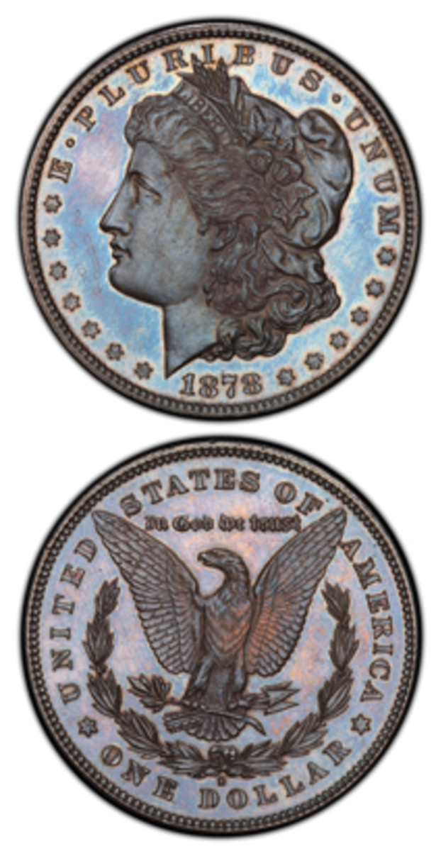 Submitted by an East Coast collector, this specimen 1878-S silver dollar has been authenticated and certified PCGS SP65 and is the earliest-known specially struck branch mint Morgan dollar. (Photo courtesy Professional Coin Grading Service www.PCGS.com)