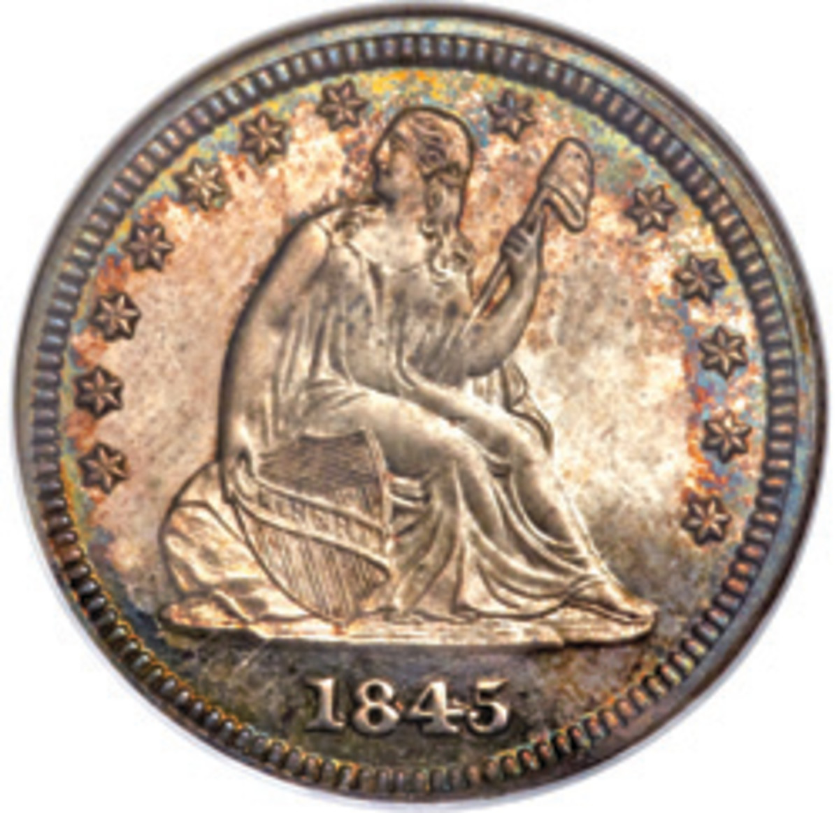 The Seated Liberty series runs from 1838 to 1891, making it tough to collect an entire date run or date and mintmark run.