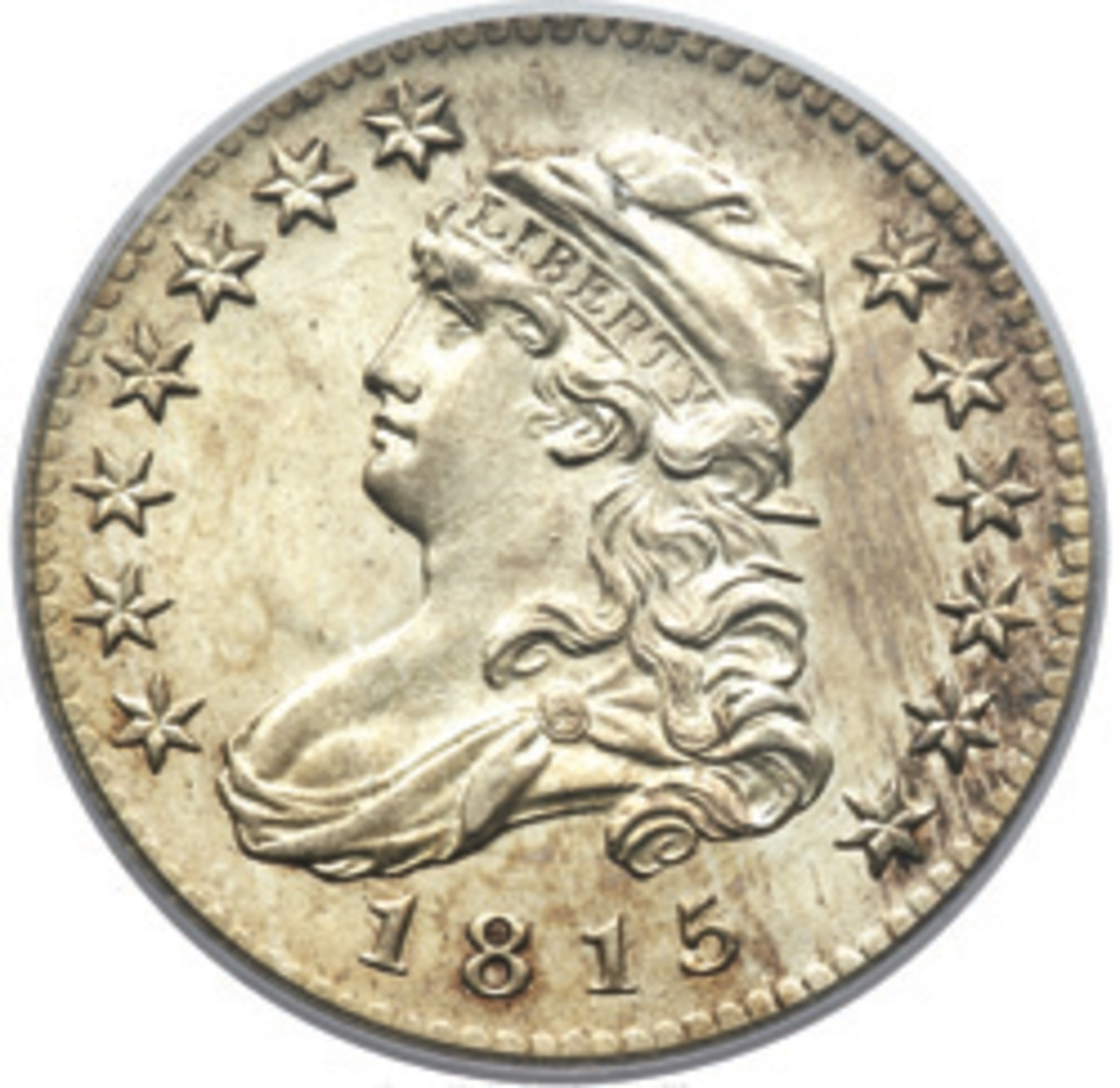The Capped Bust series debuted in 1815, but it was 1835 before its mintage reached 1 million.