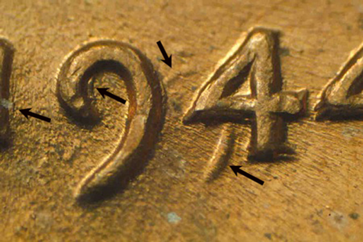 The lateset doubled die to be reported apears on a 1944 cent. Most collectors might not even realize it is a doubled die when they first see it since the secondary '9' is so far from the primary.