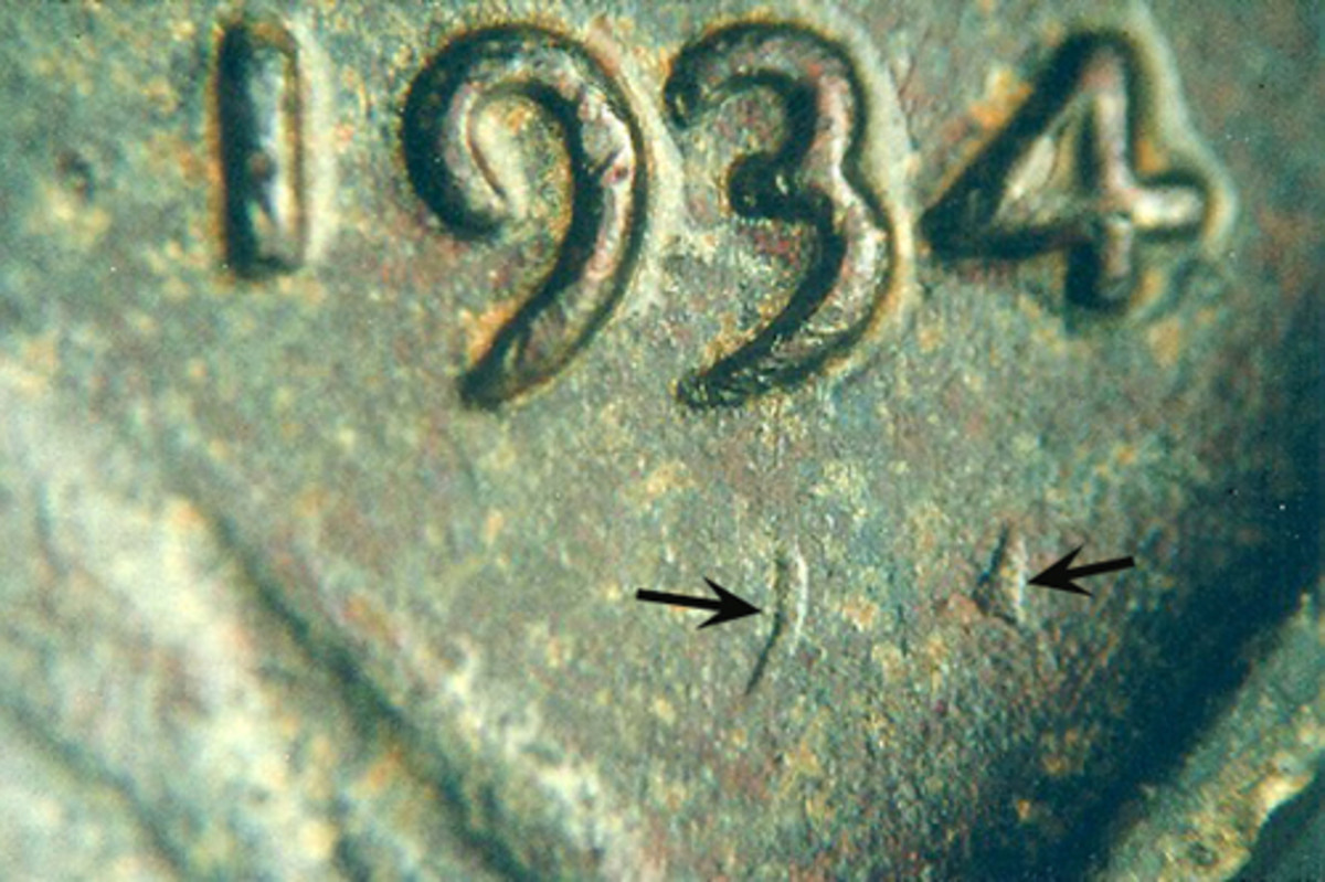 For collectors acquainted with the 1955 doubled-die cent, a coin with doubling this far way from its primary impression is visually startling.