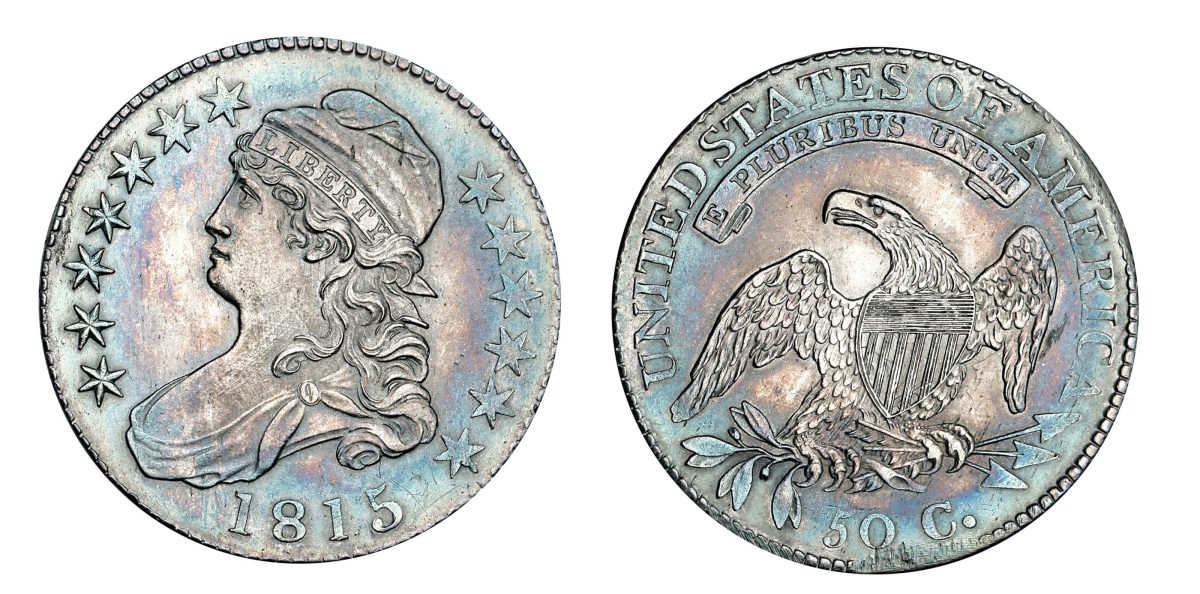 The half dollars of 1815 were actually struck in January 1816.  (Image courtesy of Stack's Bowers)