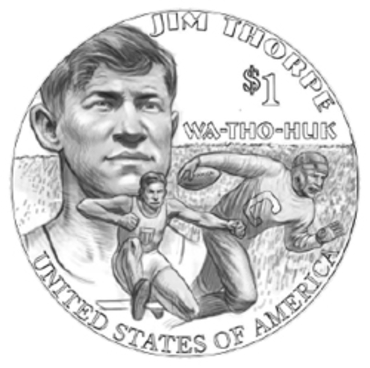 Jim Thorpe is set to appear on the reverse of the 2018 Native American dollar coin.