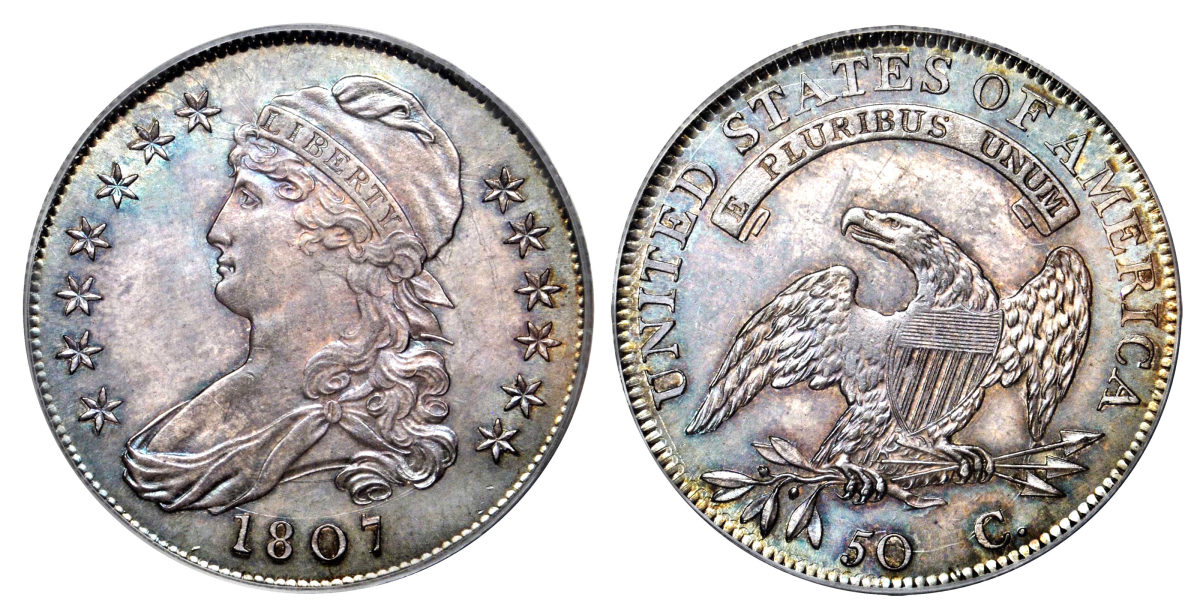 The first Capped Bust half dollars were struck in the fall of 1807. (Images courtesy of Stack's Bowers)