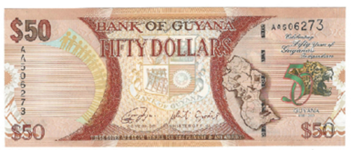 A lot of 50s this time, as Guyana joins the group with an issue in honor of its 50 years of independence.