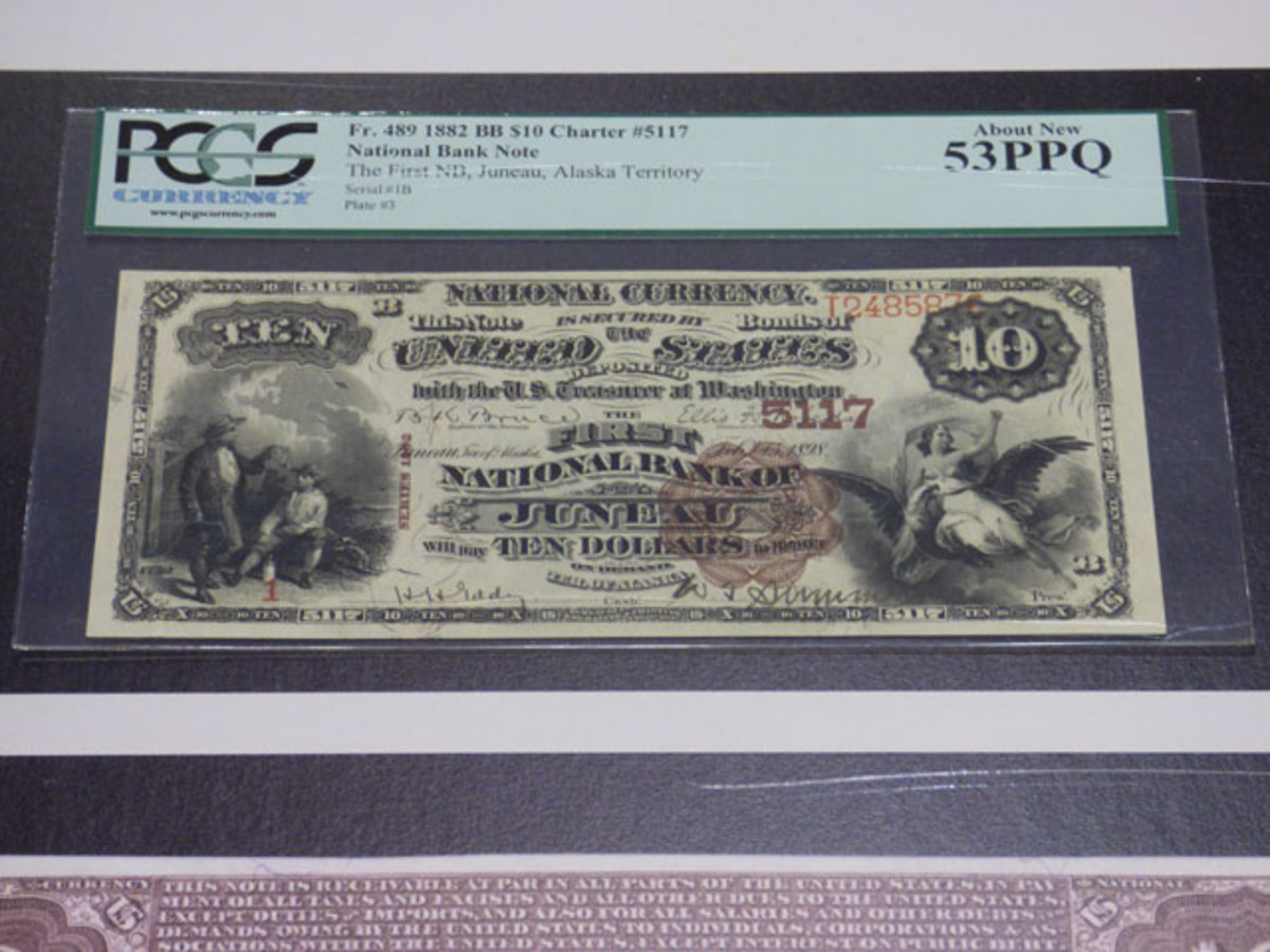 High grade and fascinating large-size National Bank Notes caught collectors' eyes