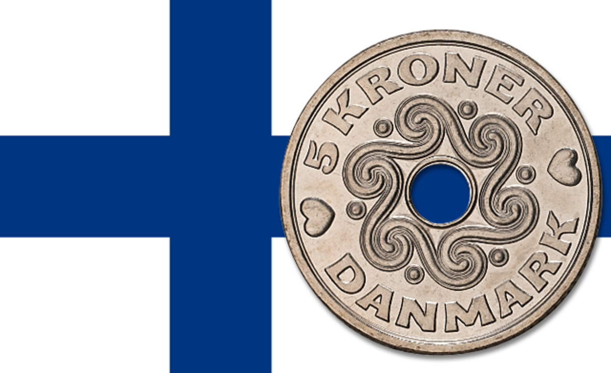 Beginning in 2017, the Mint of Finland will strike Denmark's coins.