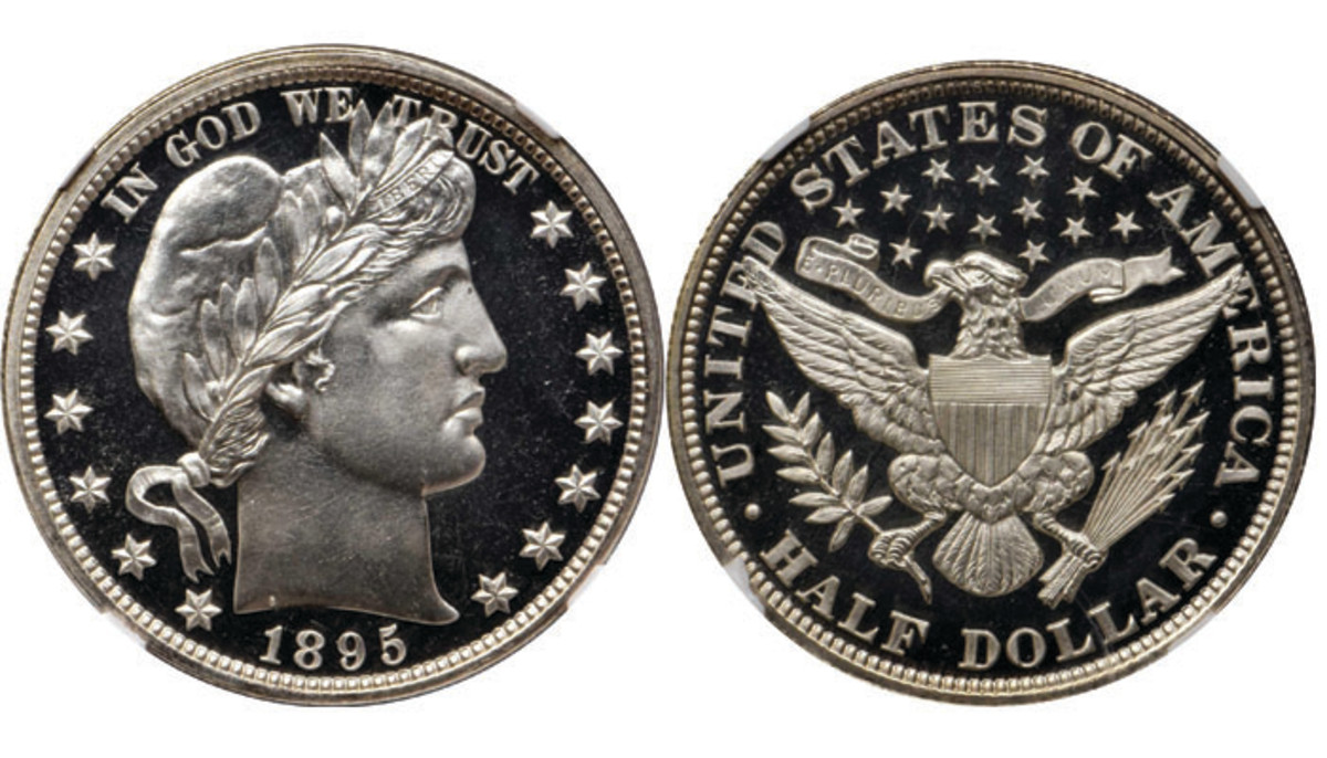 Lot 5210. 1895 Barber Half Dollar Proof- 69 Cameo. Images courtesy of Stack's Bowers