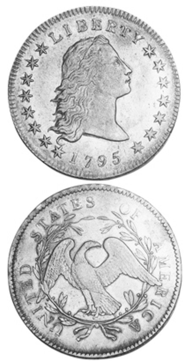 An important piece of early American history, the Flowing Hair silver dollar design was used for just two years. There is a considerable price spread between 1794 and 1795 examples.
