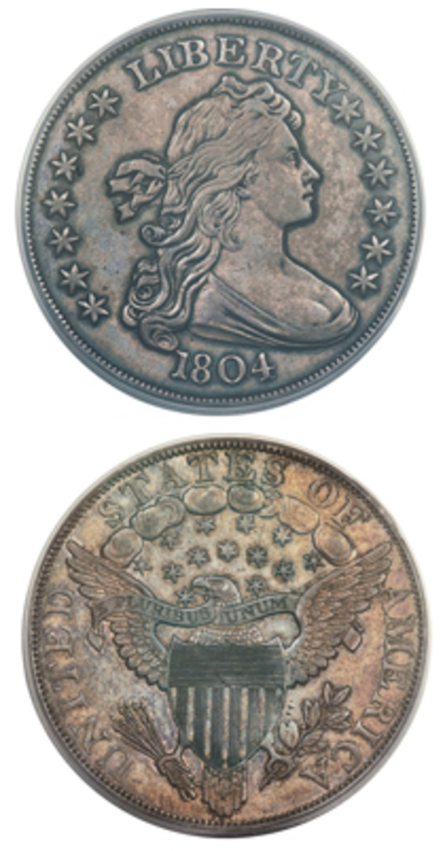 Topping the bidding at the Long Beach Sale was this 1804 dollar. (Image courtesy Heritage)