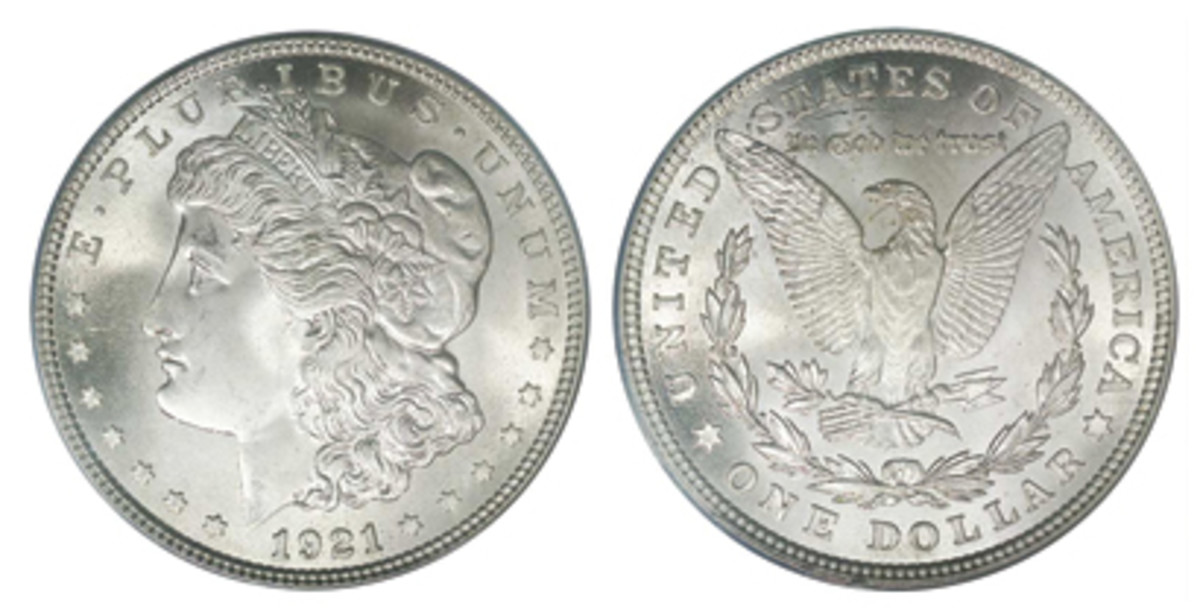 After a long break, coinage of the Morgan dollar resumed for one year in 1921.
