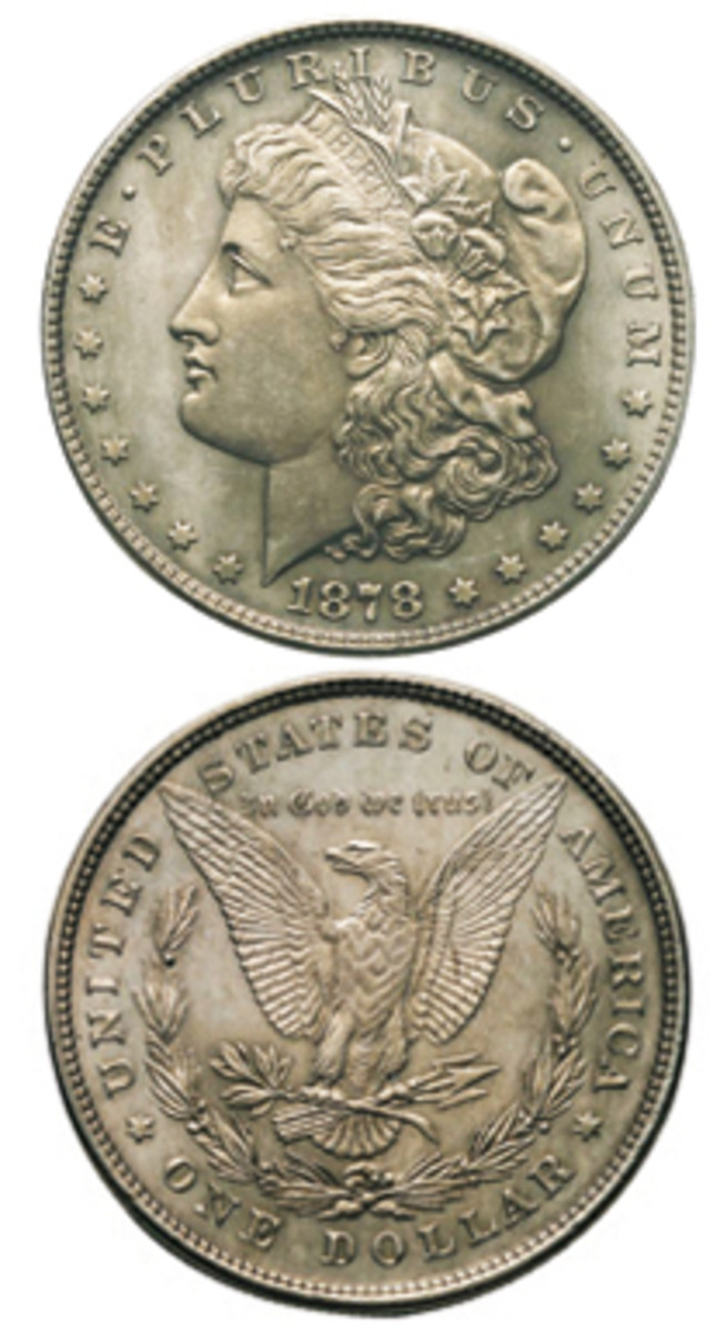 The first Morgan dollars were minted in 1878.
