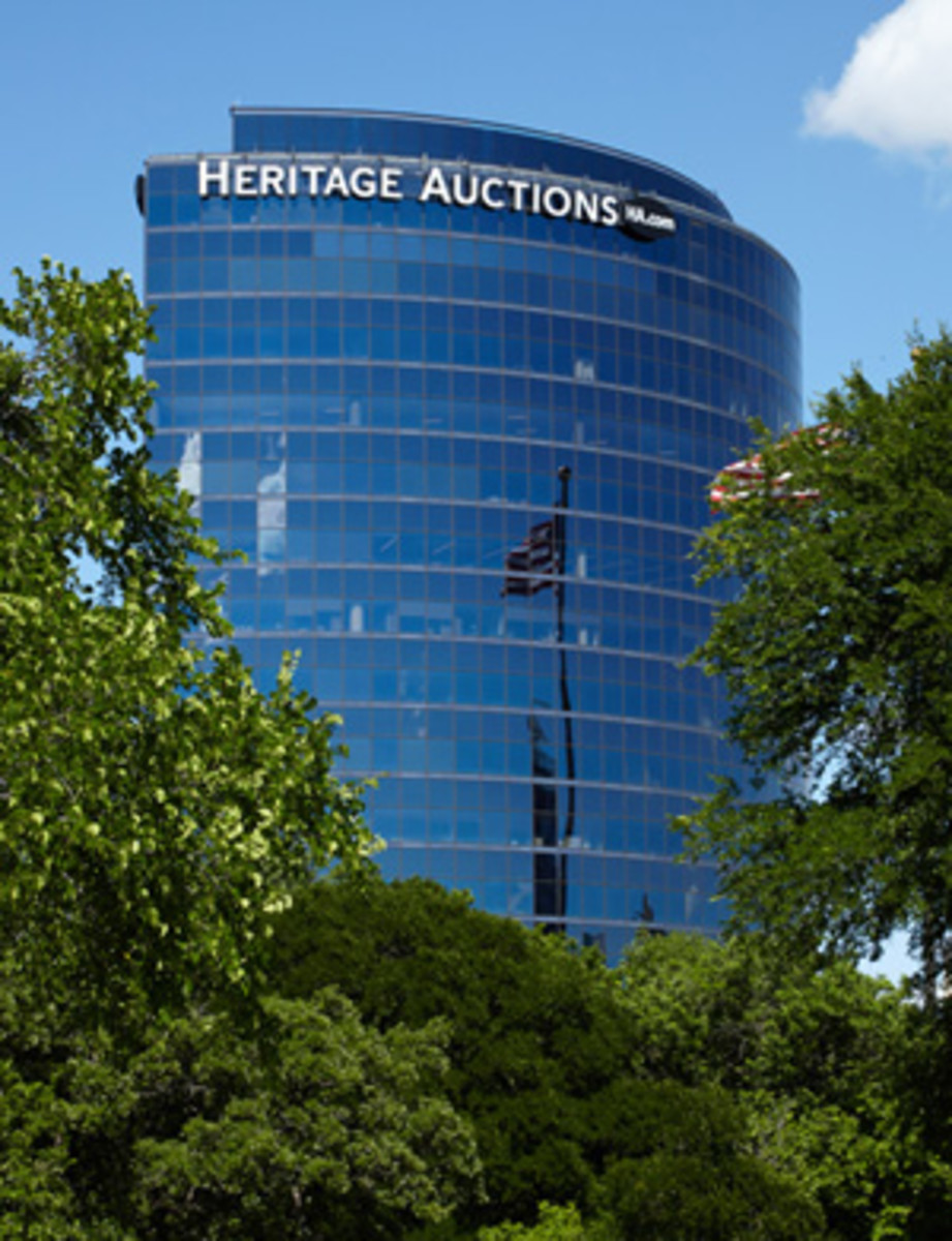 The grand Heritage Auctions building in Dallas, Texas, offers a comfortable office atmosphere for the majority of its staff. There is no open coin counter in the building, so call in to set up an appointment if you plan to visit. (Image courtesy Wikipedia.org, user submitted.)