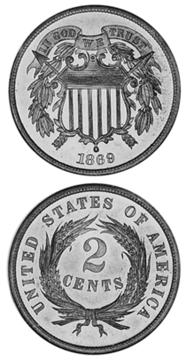 The two-cent piece was born during the Civil War when coins were hoarded and the government was trying new compositions and denominations in hopes some would circulate.
