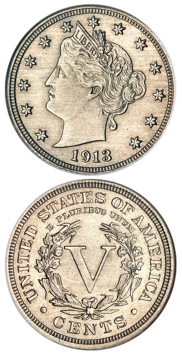 Worth millions, there are only five examples of the 1913 Liberty Head nickel. Despite a century of study, many questions about its origins remain unanswered. This is the Olsen specimen.