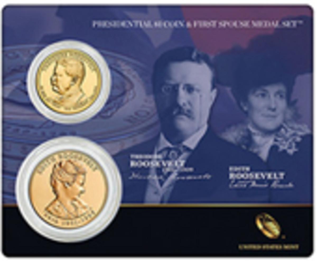 Roosevelt Coins and Medal Set