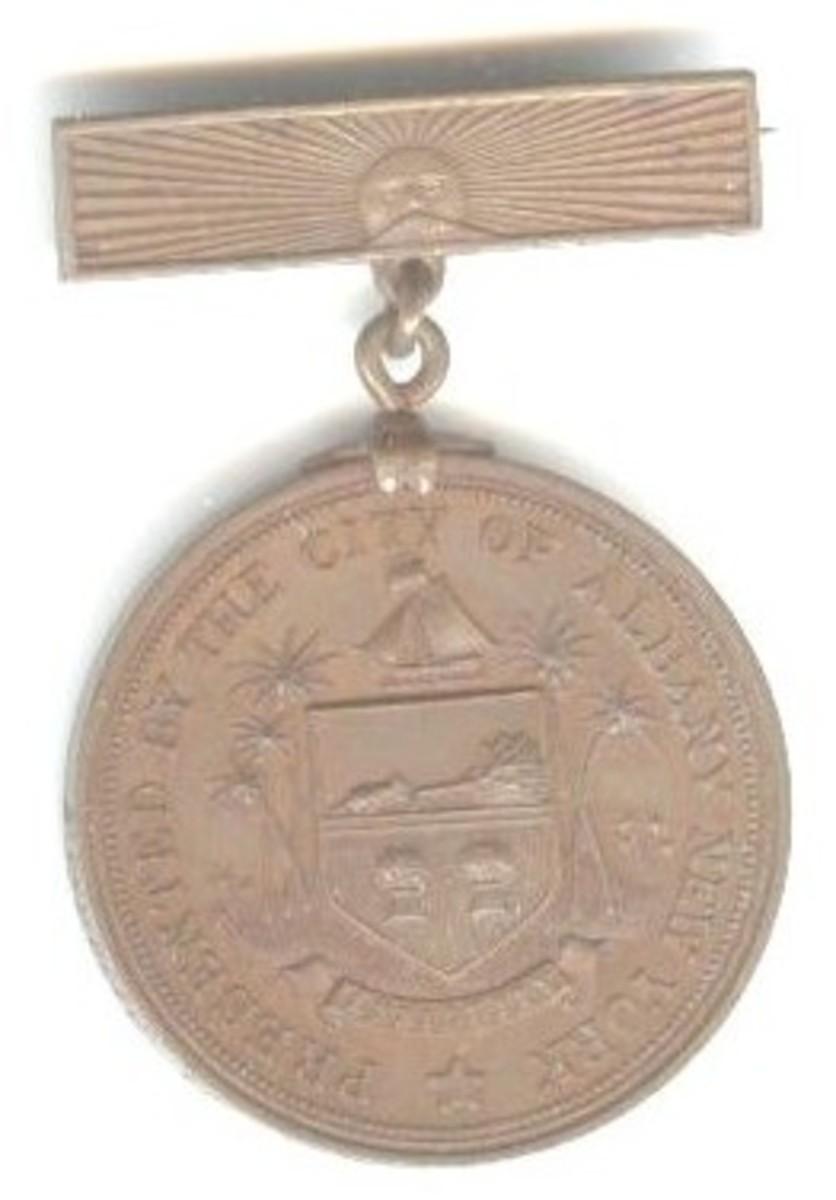 Albany, NY Spanish-Amer. War Medal