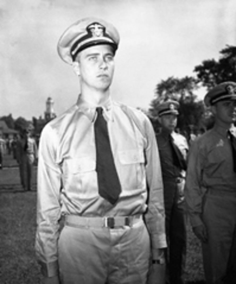 Here is a photo of Lt. John A. Roosevelt, President Franklin Roosevelt's youngest child, in his uniform circa 1943.