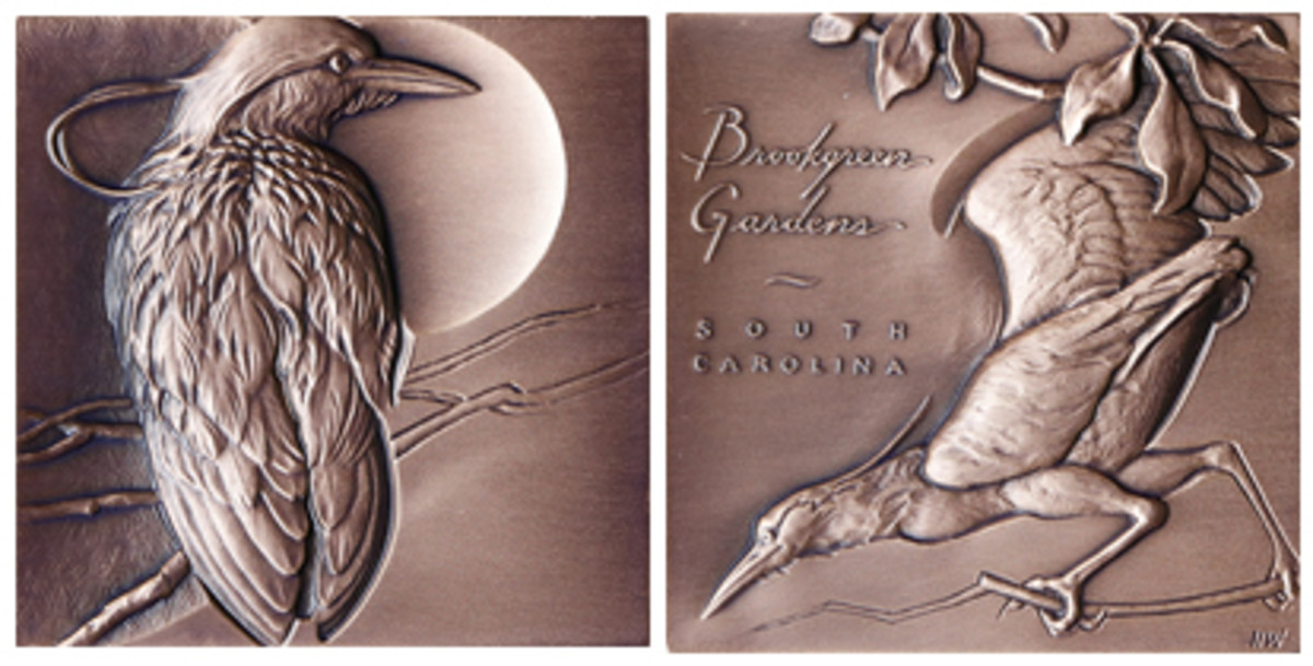 Winner of the American Medal of the Year is this work of art by Heidi Wastweet done for Brookgreen Gardens.