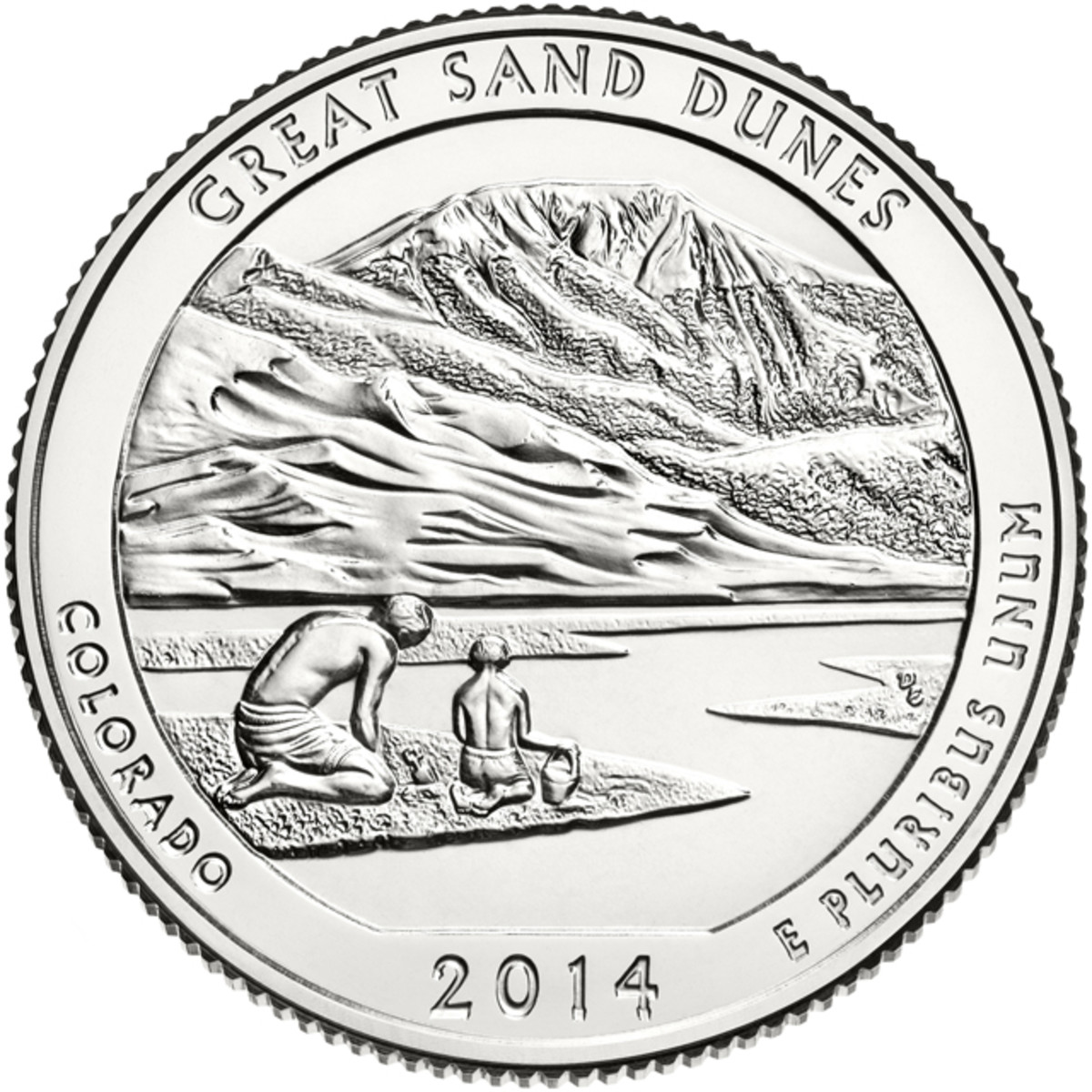 Reverse of the Great Sand Dunes National Park quarter