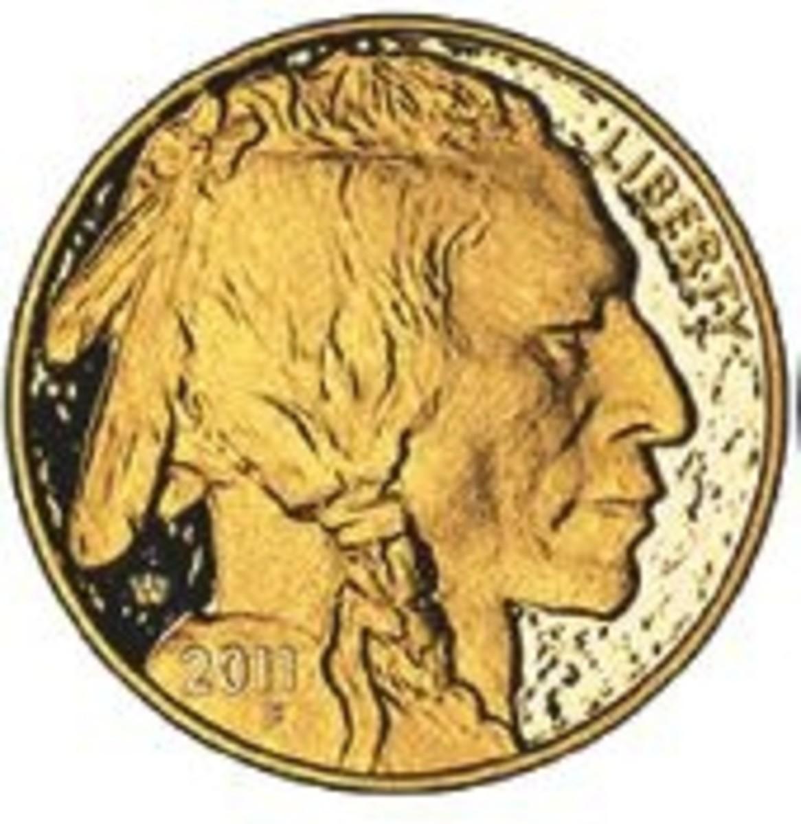 2011 Gold Buffalo coin