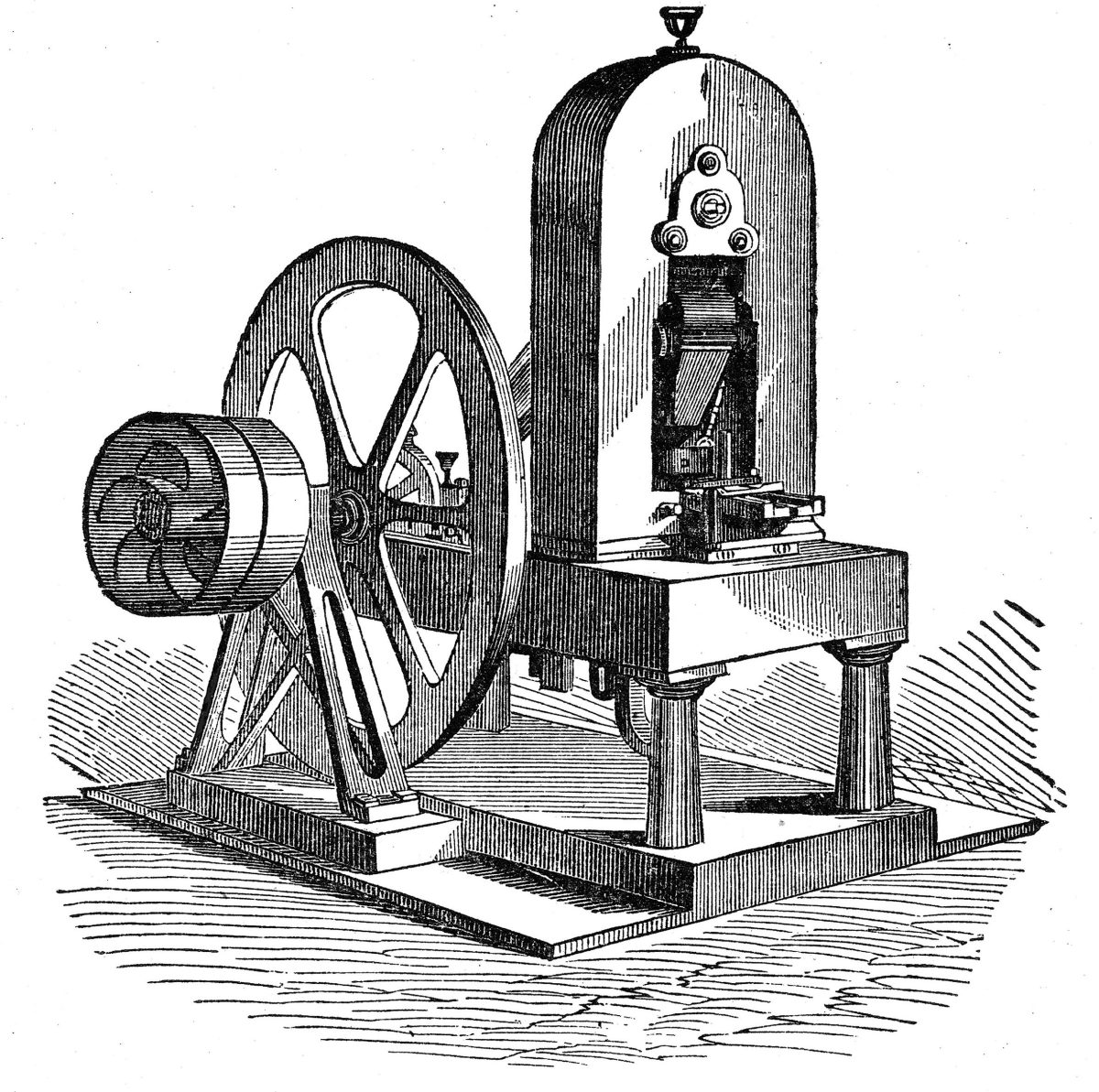 The 1836 steam coining press.