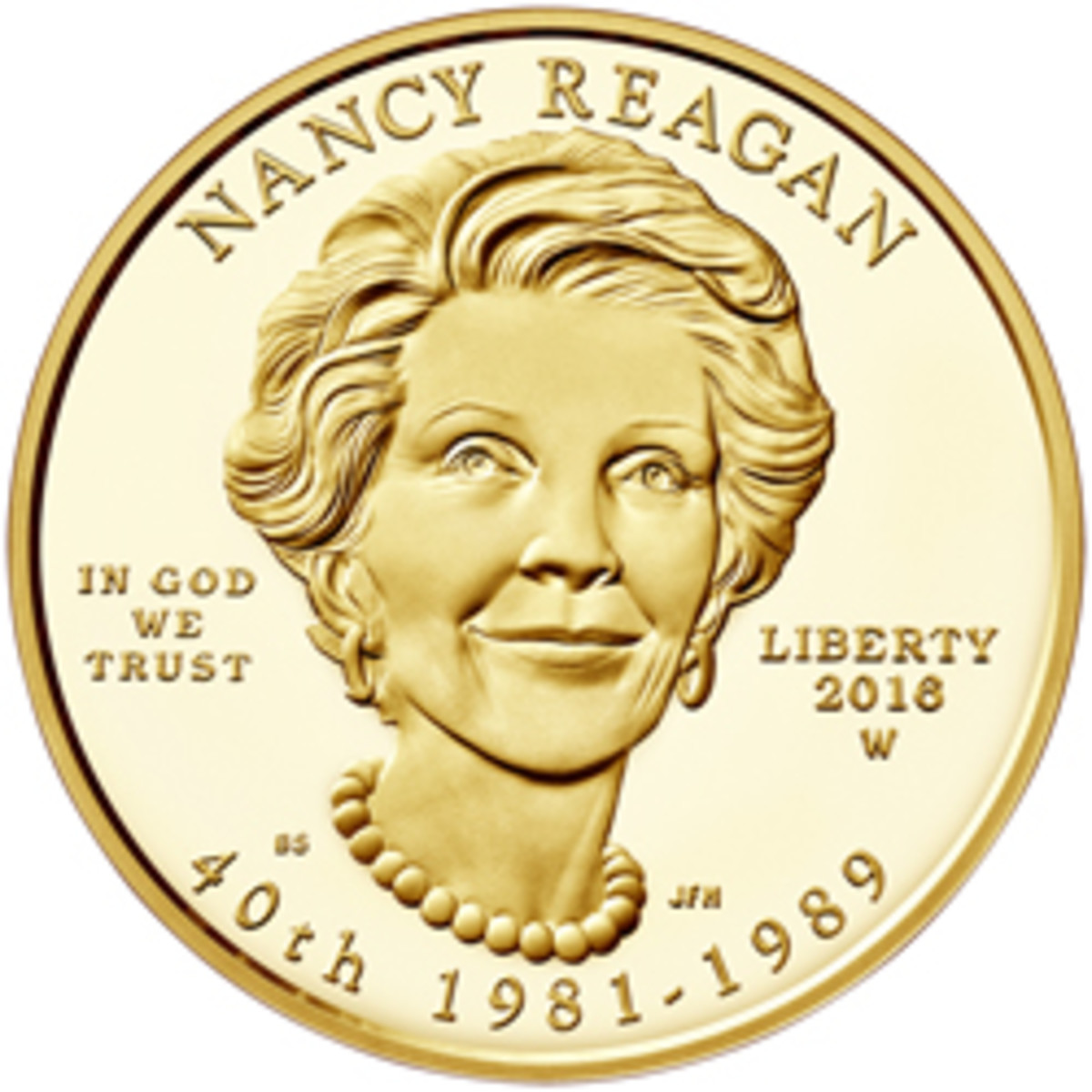 2016 First Spouse Gold Coin Nancy Reagan Proof Obverse