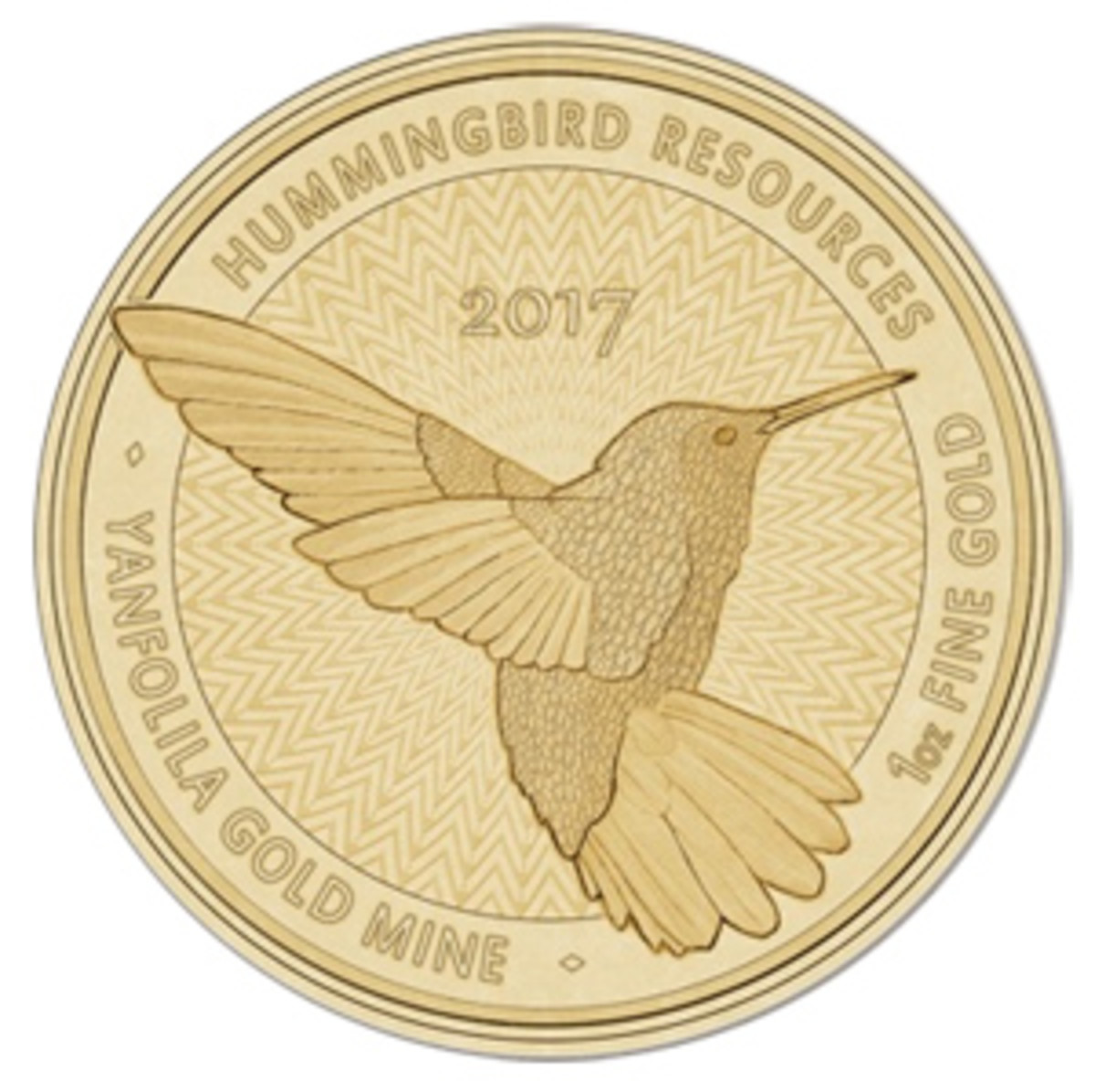 The metal for gold Hummingbird medals being marketed as coins originates in Mali.