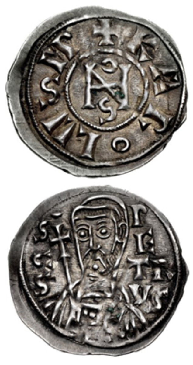 Coins of Pope John VIII are being used as evidence by a researcher to argue a Pope Joan existed during the 9th century C.E. (Photos courtesy of Classical Numismatic Group)