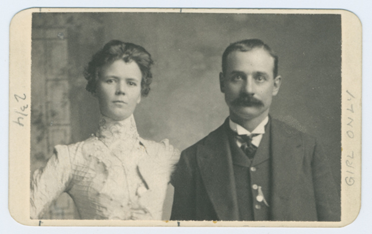 """Harvey """"Kid Curry"""" Logan with Annie Rogers. Rogers tried to exchange some of the stolen notes at The Fourth National Bank of Nashville, Tenn. in October 1901."""