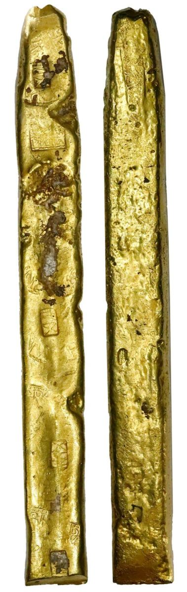 "The gold ""finger"" bar was the primary way of transporting much wealth from the New World to Spain."