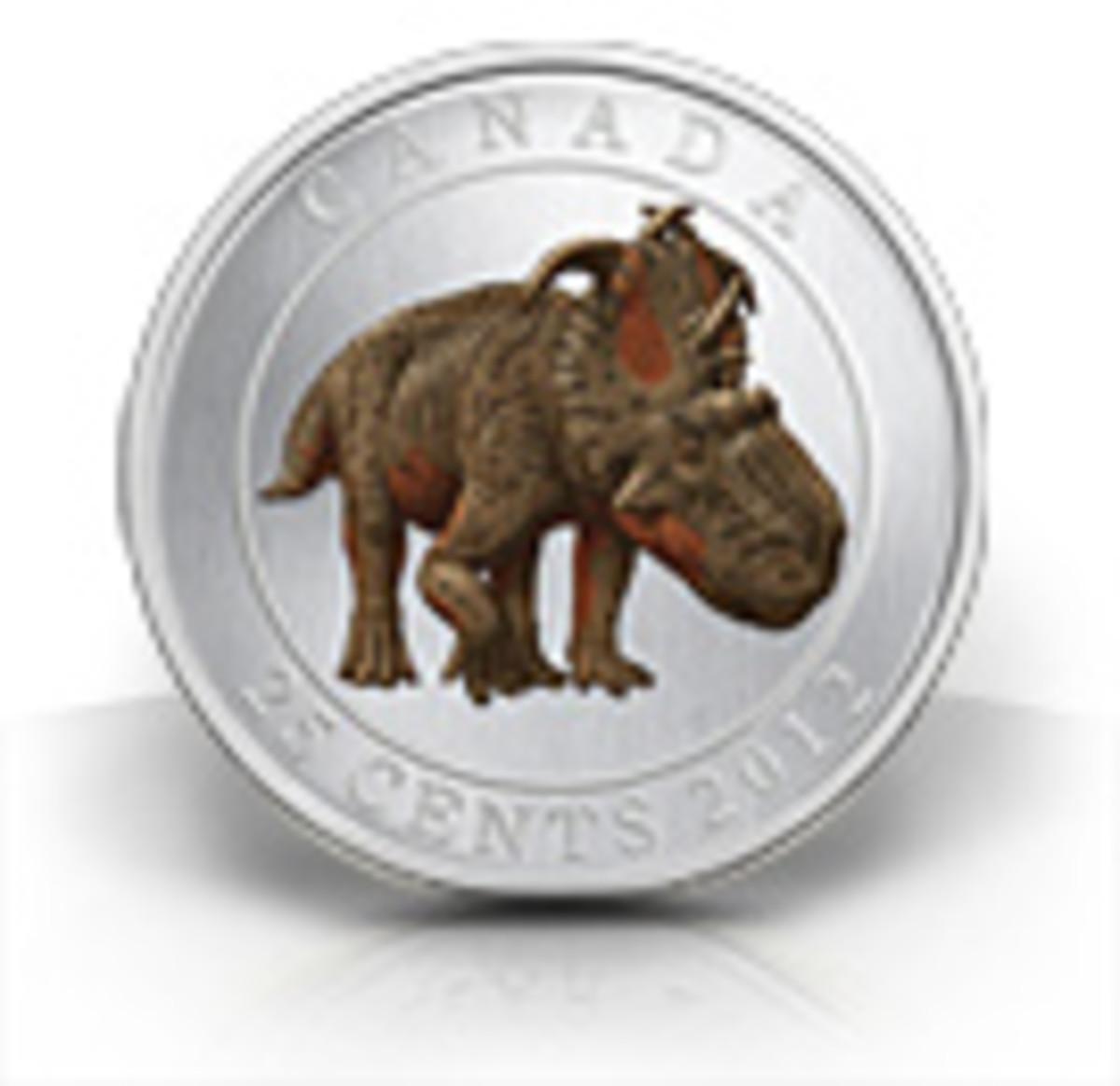 Glow-in-the-dark dinosaur coin