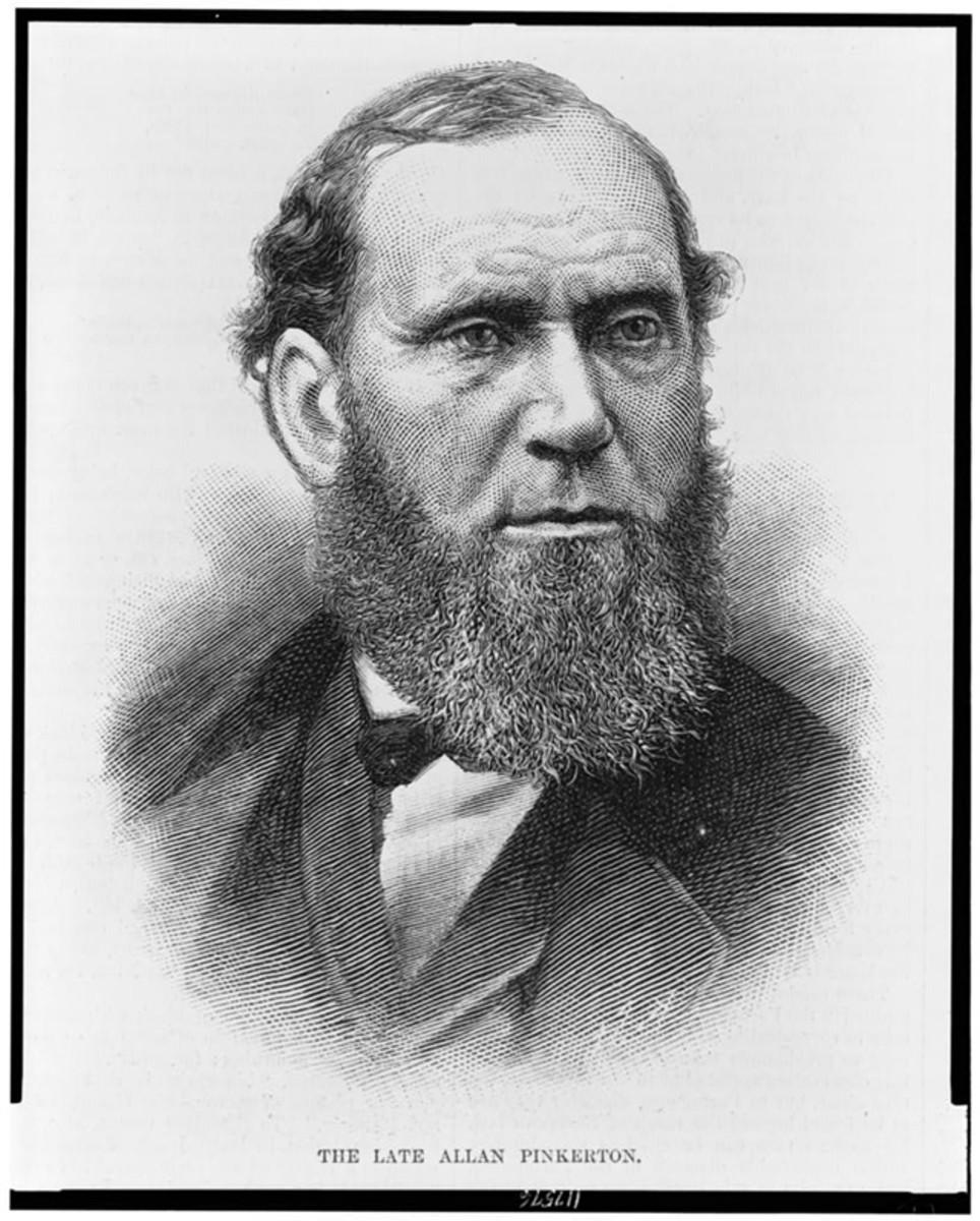 Alan Pinkerton, founder of Pinkerton's National Detective Agency.