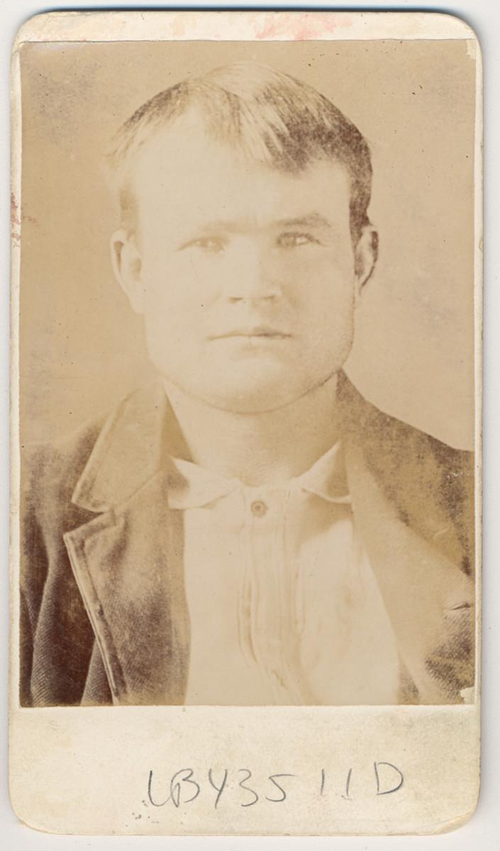 Mug shot for Robert Leroy Parker, aka Butch Cassidy.