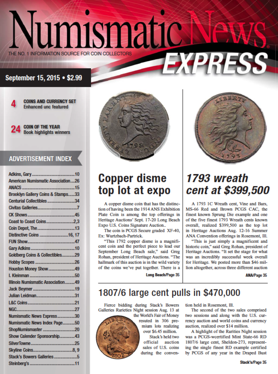 Download the latest issue of Numismatic News Express here and start reading today!