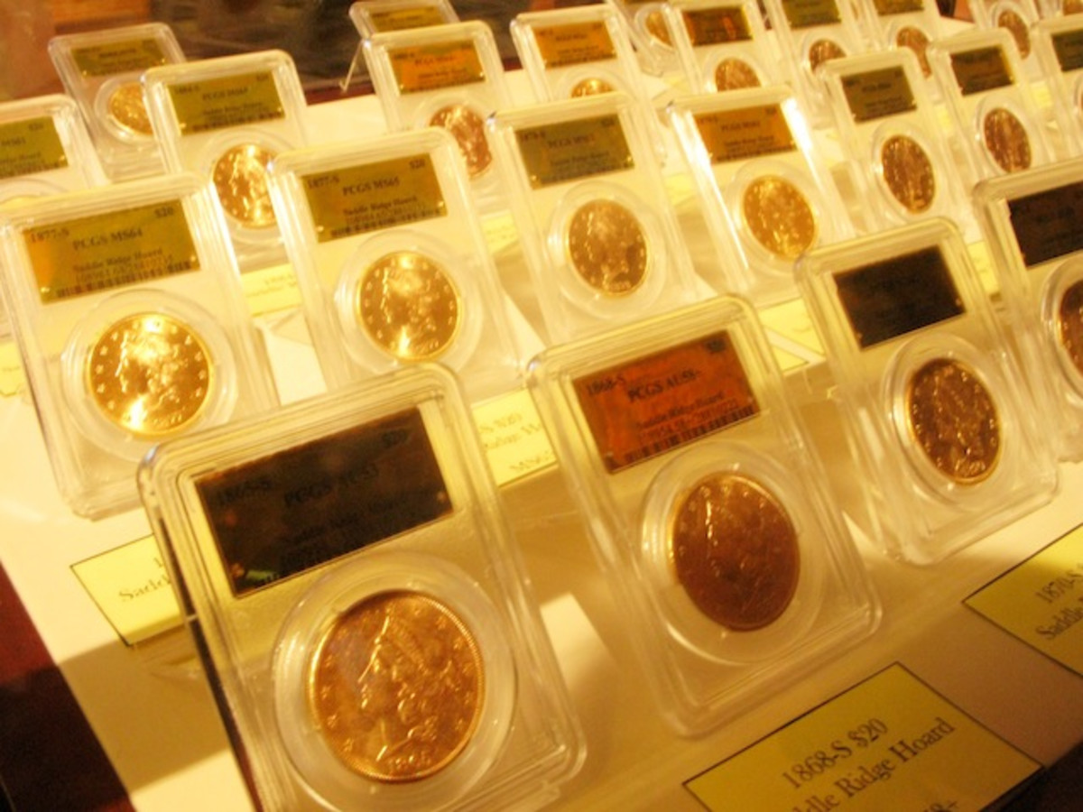 Sixty of the gold coins were displayed at the old San Francisco Mint on May 27.