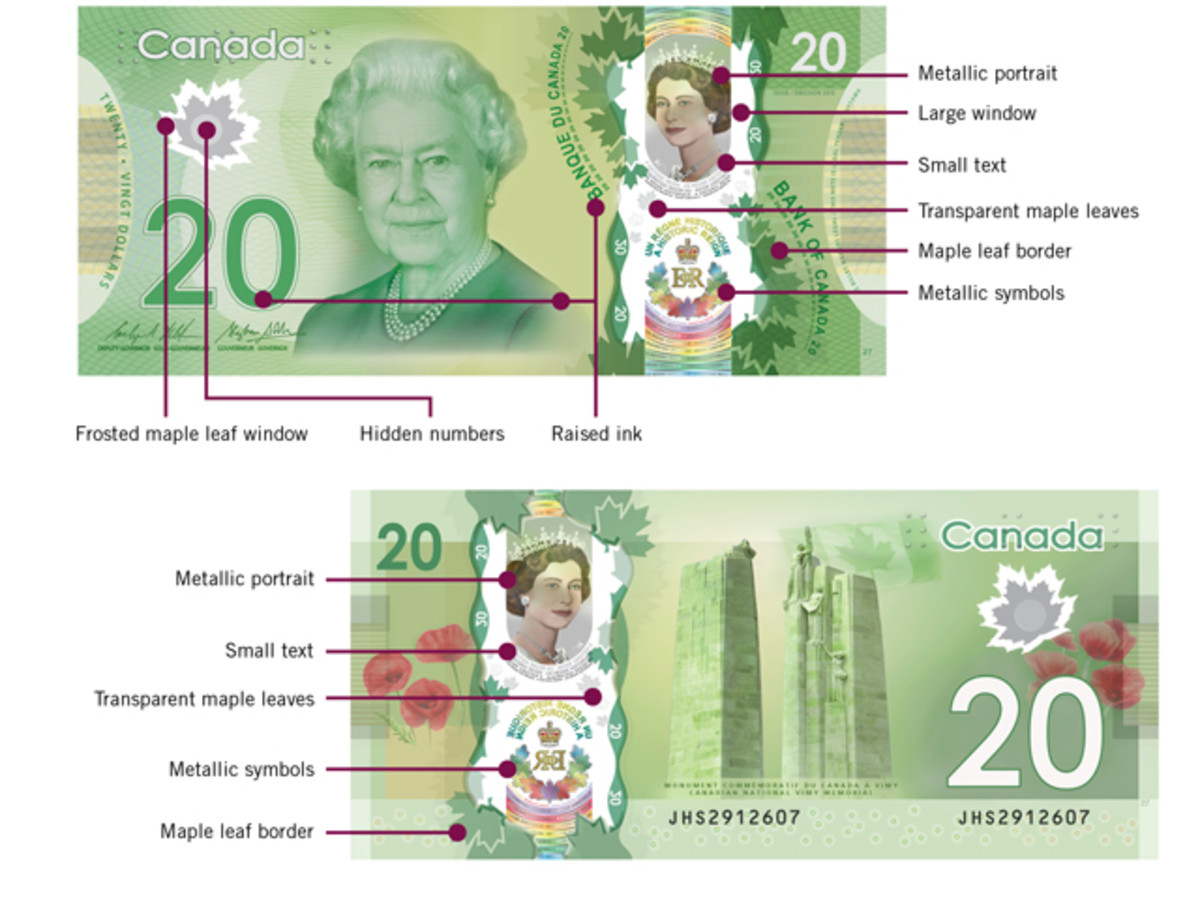 The bank note also features new and updated security devices.