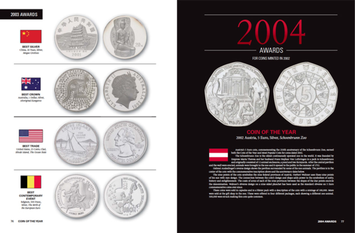 A look inside the new Coin of the Year book.