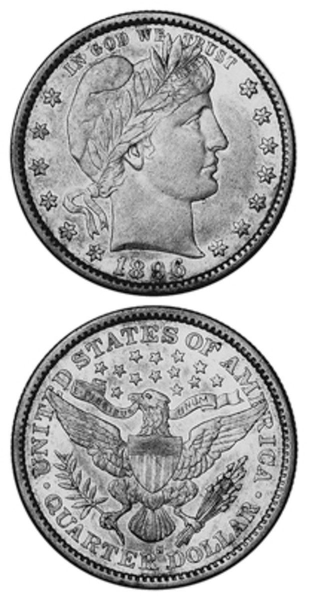 Even though its mintage of 188,039 was significantly higher than that of the 1913-S at 40,000, high-grade examples of the 1896-S Barber quarter are apparently harder to find.