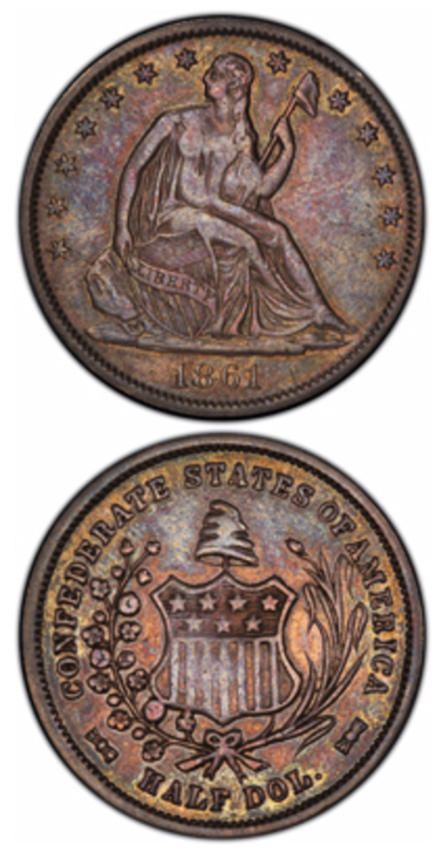 Only four Confederate half dollars were struck at the New Orleans Mint in 1861. The South simply lacked bullion to establish a series coinage of its own. Worse, New Orleans and its mint were taken back by Union forces in 1862.