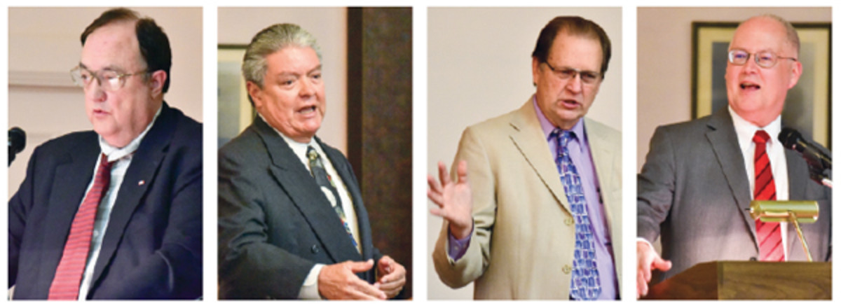 The four speakers at the NCNA seminar Sept. 16 in Vallejo, Calif., were, left to right, Paul Johnson, Robert Luna, Roger Lyles and Dave Harper.
