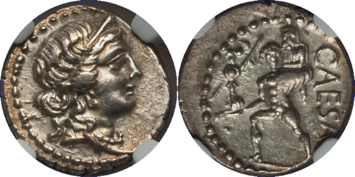 Denarius of Julius Caesar
