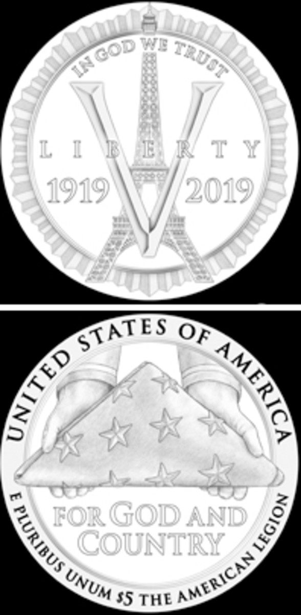 The American Legion was founded in Paris, France, in 1919, and this design pays tribute to the location and the sacrafice made by American soldiers.
