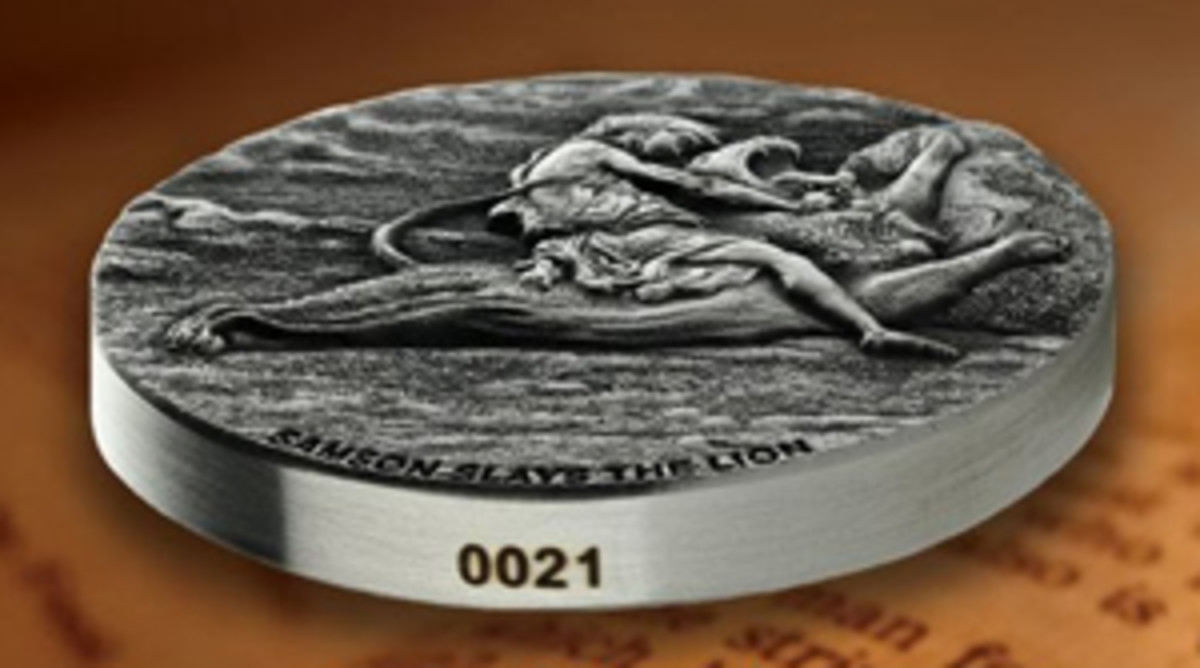 Each coin features a laser-etched serial number.