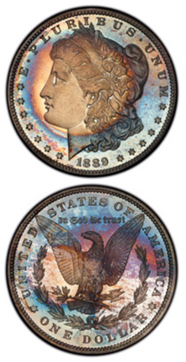 The finest proof Morgan dollar collection in the PCGS Set Registry®, including this 1889 silver dollar graded PCGS PR68CAM, will be displayed at the 2019 FUN convention. (Photos courtesy Professional Coin Grading Service, www.PCGS.com)