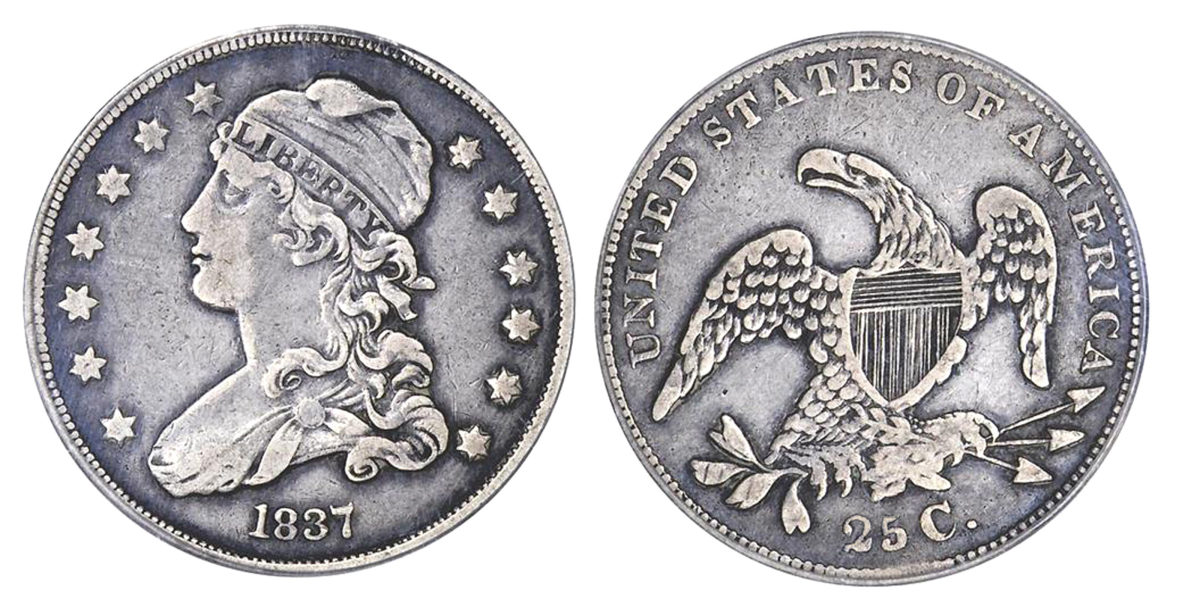 1837 quarter dollar. (Image courtesy of Stack's Bowers)