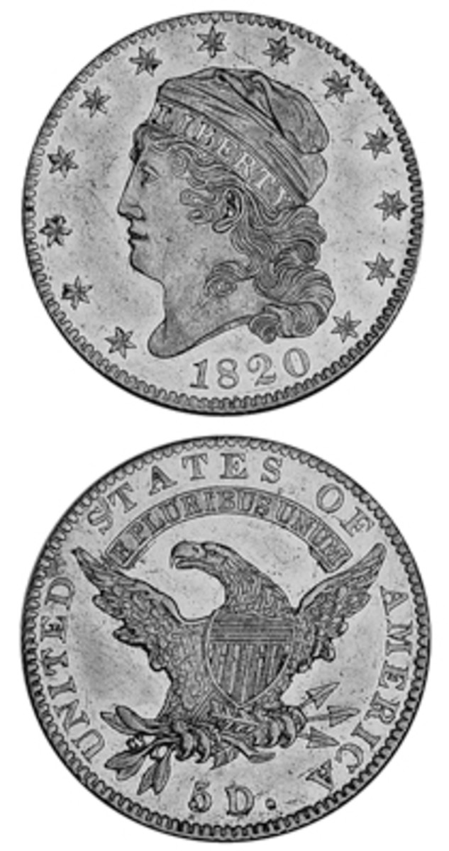 Although not large by normal standards, the relatively high mintage for the 1820 Capped Head left half eagle (when compared to its contemporaries) led to a higher number of examples surviving in Mint State today than one would expect.
