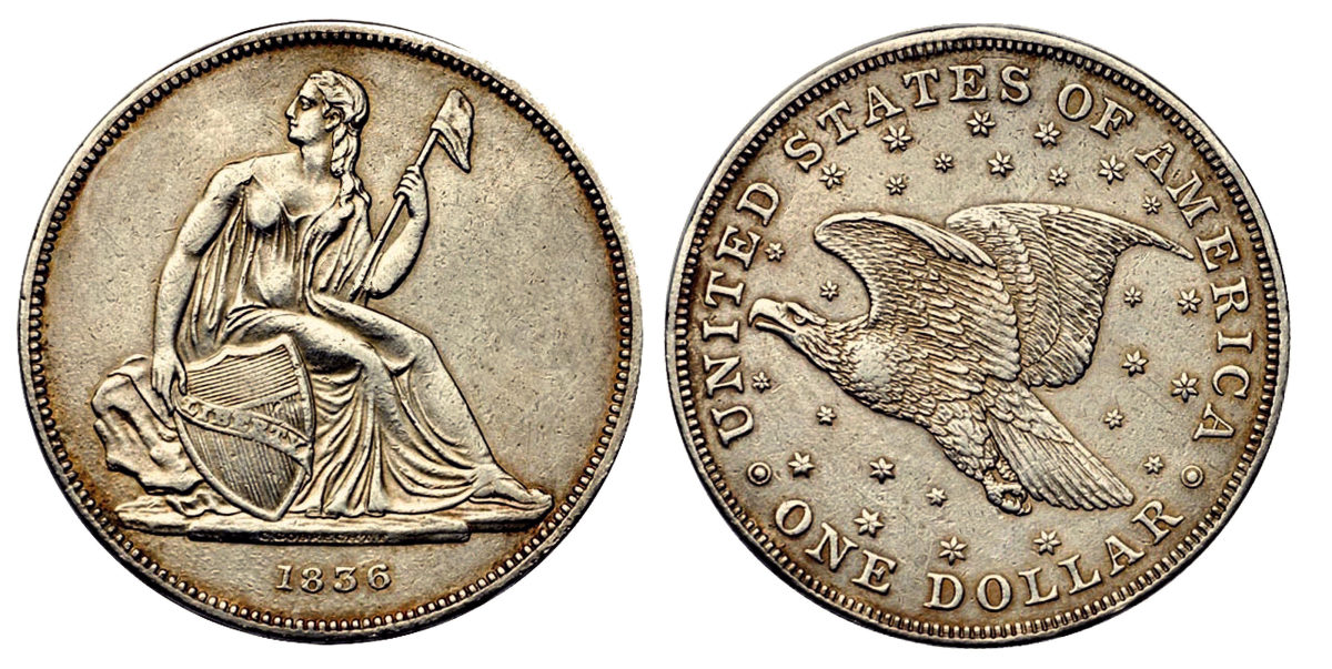 The Gobrecht dollars struck in March 1837 used dies of 1836 but with medal turns.